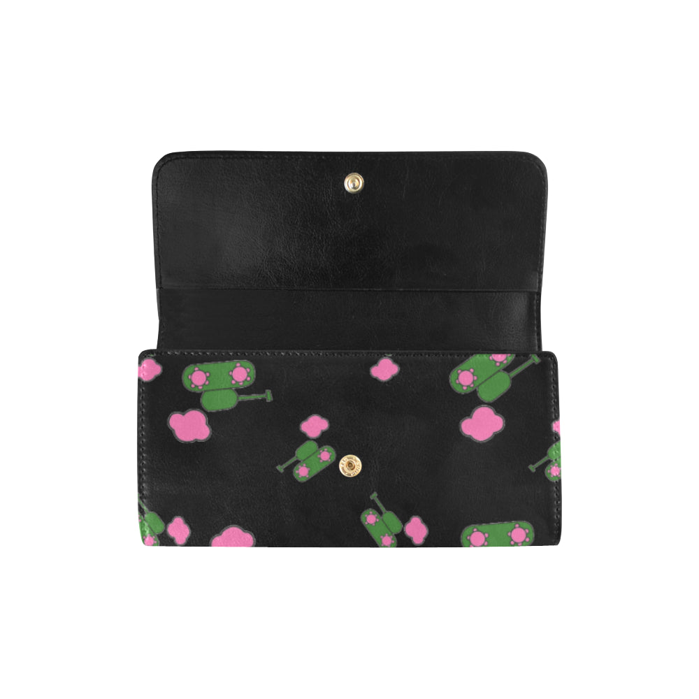 Tanks and clouds black Trifold Wallet ${product-type) ${shop-name)