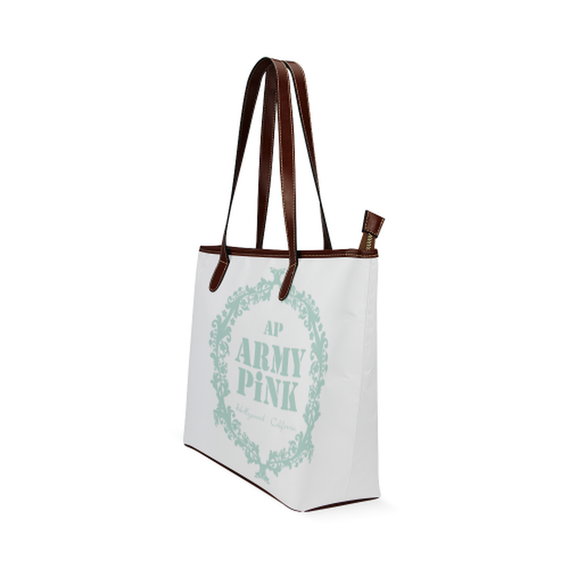 Mint wreath on white Shoulder Tote Bag (Model 1646) for  at ARMY PINK