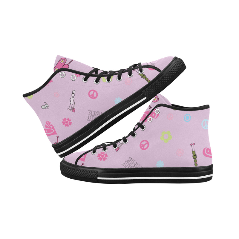 Pink Logo Print Hi Top Canvas Shoes for 49.00 at ARMY PINK