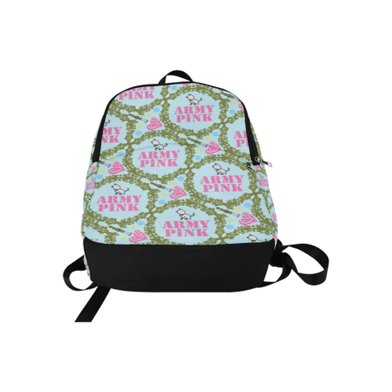 backpack green wreath on mint Fabric Backpack for Adult (Model 1659) for  at ARMY PINK