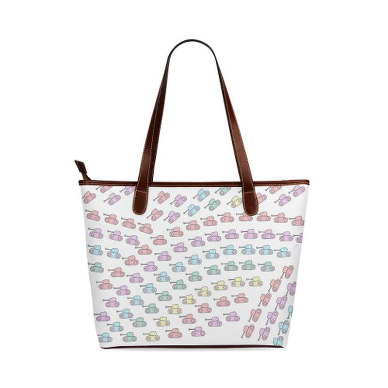 Pastel tank rainbow Tote Bag for  at ARMY PINK