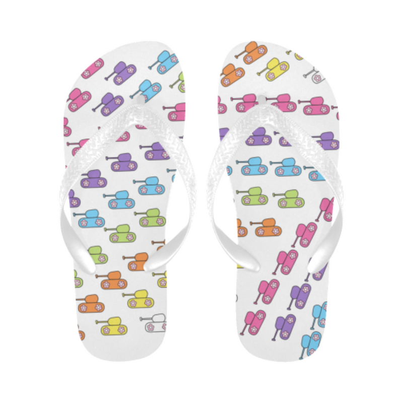 Bright rainbow tank Flip Flops for 16.00 at ARMY PINK