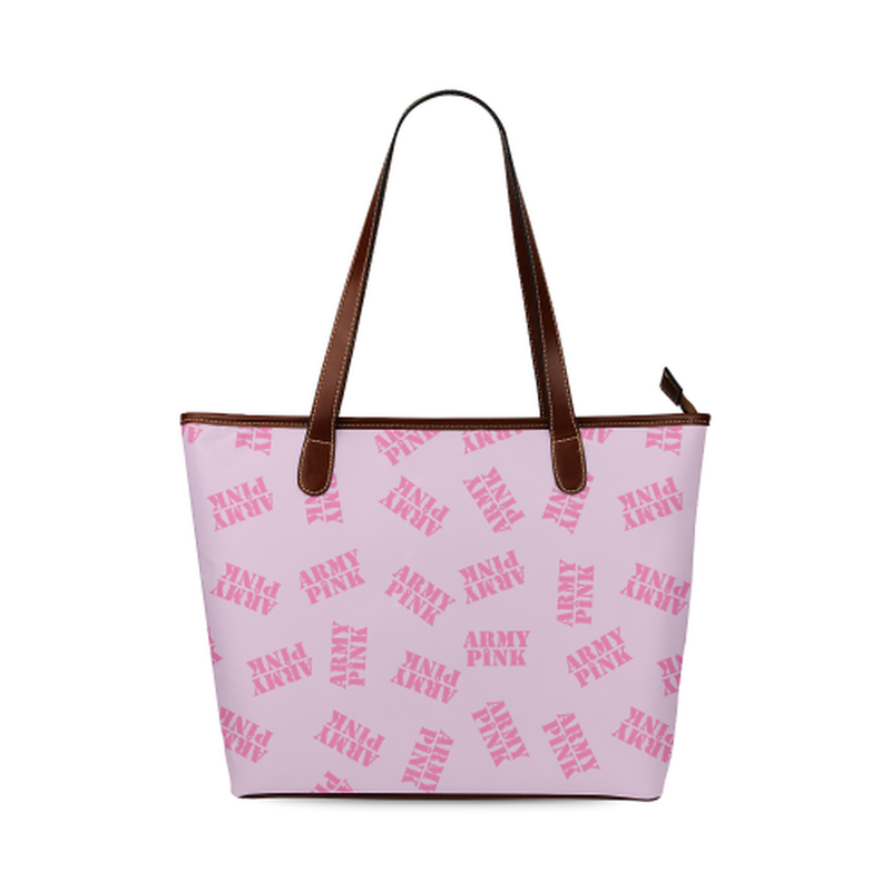 Pink stamp Tote Bag for  at ARMY PINK