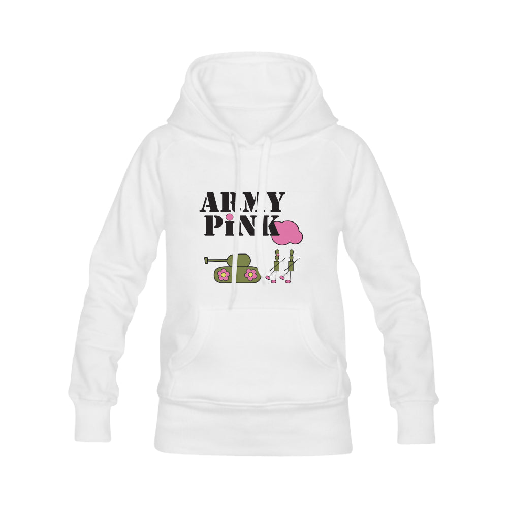 White Logo Hoodie for 40.00 at ARMY PINK
