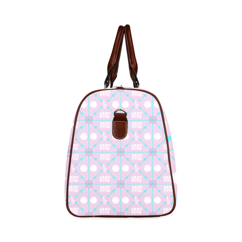 large travel diamond marchers on violet Waterproof Travel Bag/Large (Model 1639) for  at ARMY PINK