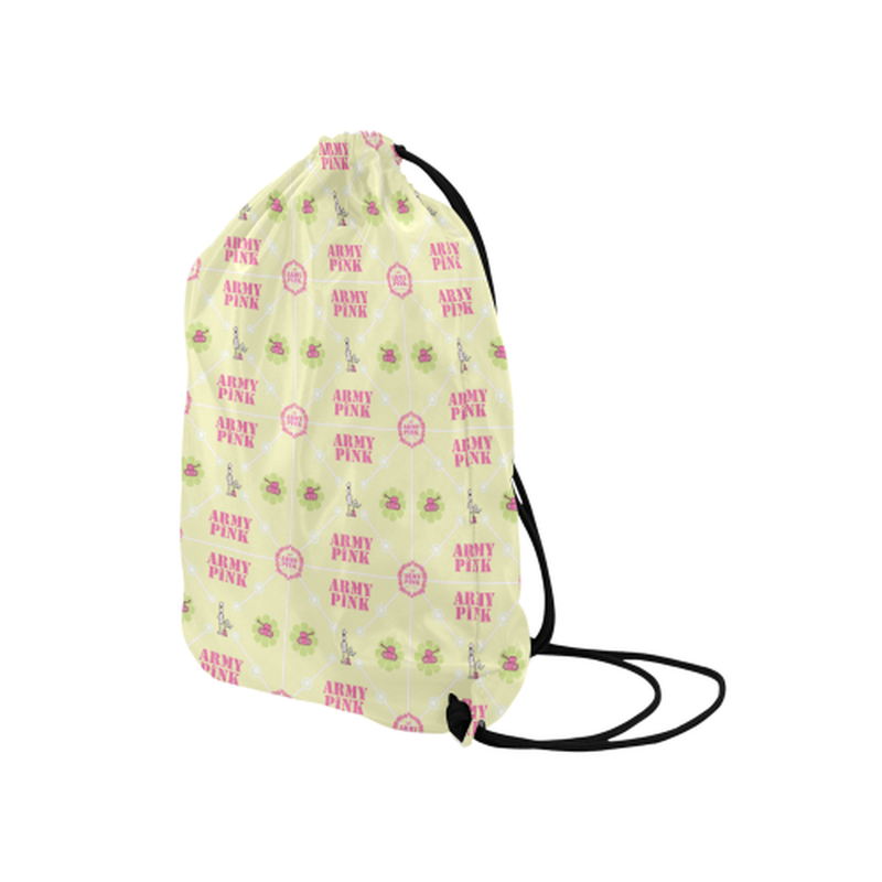 "Diamond logo on yellow Medium Drawstring Bag Model 1604 (Twin Sides) 13.8""(W) * 18.1""(H) for  at ARMY PINK"