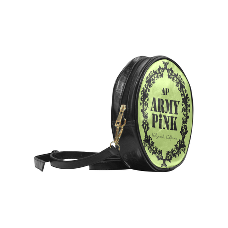 Green black wreath Round Sling Bag for  at ARMY PINK