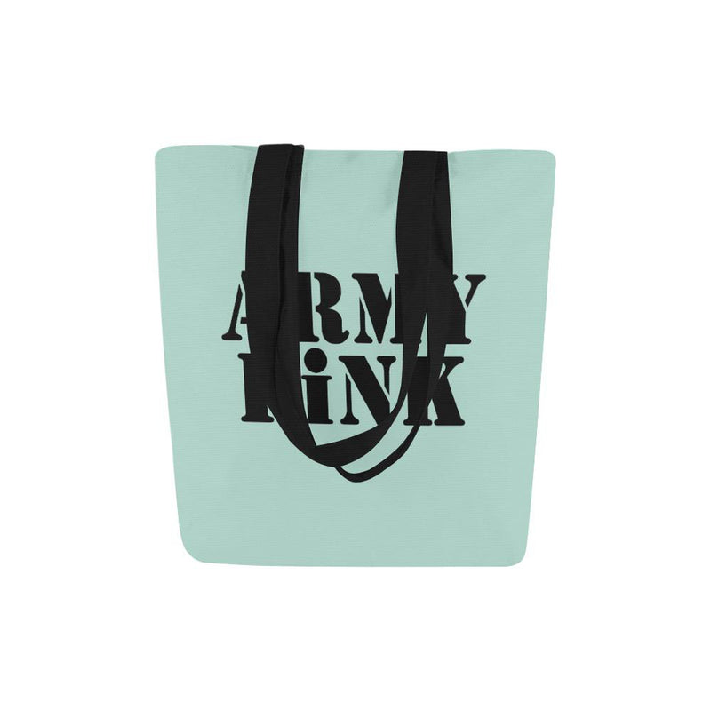 Army Pink on Mint Green Handbag ${product-type) ${shop-name)