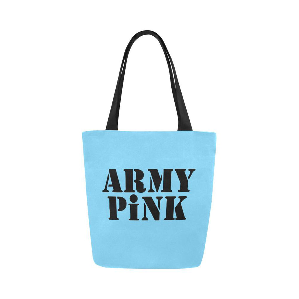 Army Pink in Black on Blue Handbag for  at ARMY PINK