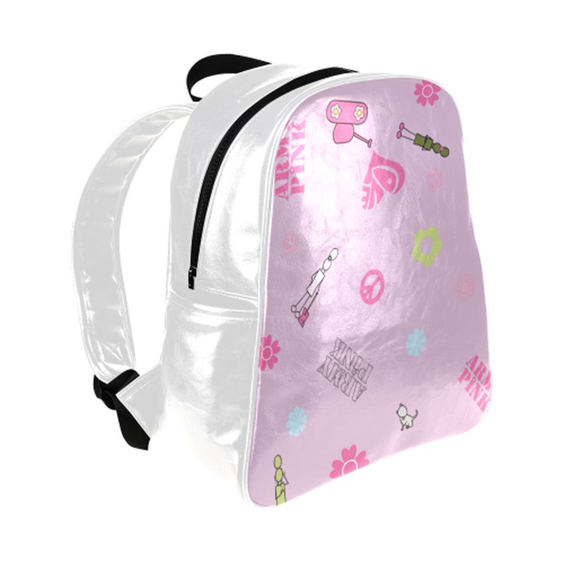 Logo print on violet Multi-Pockets Backpack for  at ARMY PINK