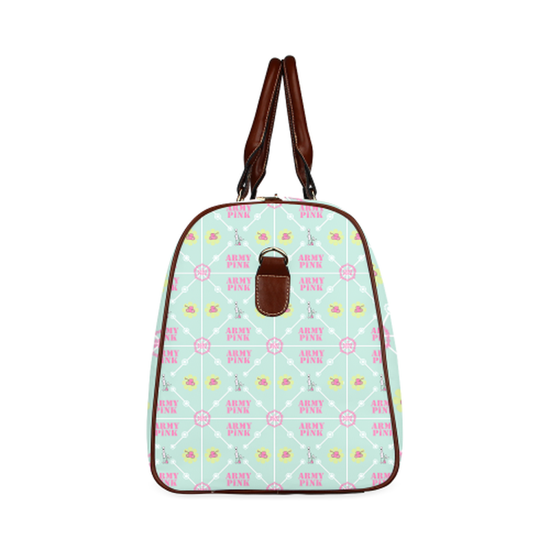 small travel diamond marchers on mint Waterproof Travel Bag/Small (Model 1639) for  at ARMY PINK