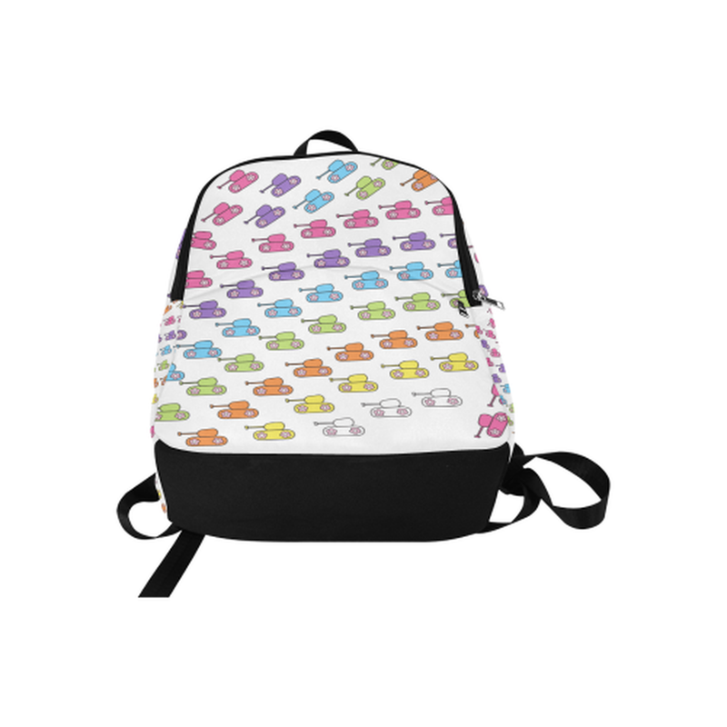 Bright tanks Fabric Backpack for  at ARMY PINK