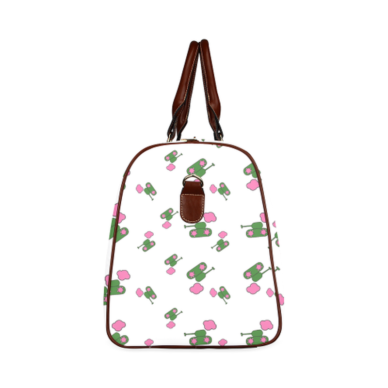 Small white tank cloud Travel Bag for  at ARMY PINK