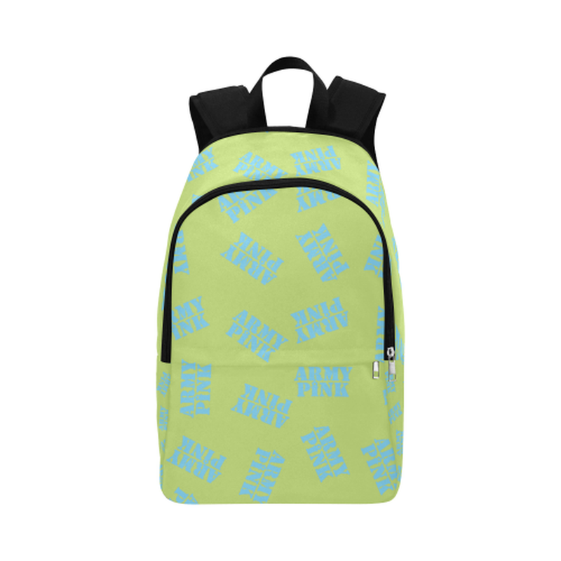 Blue stamps on green Fabric Backpack for Adult (Model 1659) for  at ARMY PINK