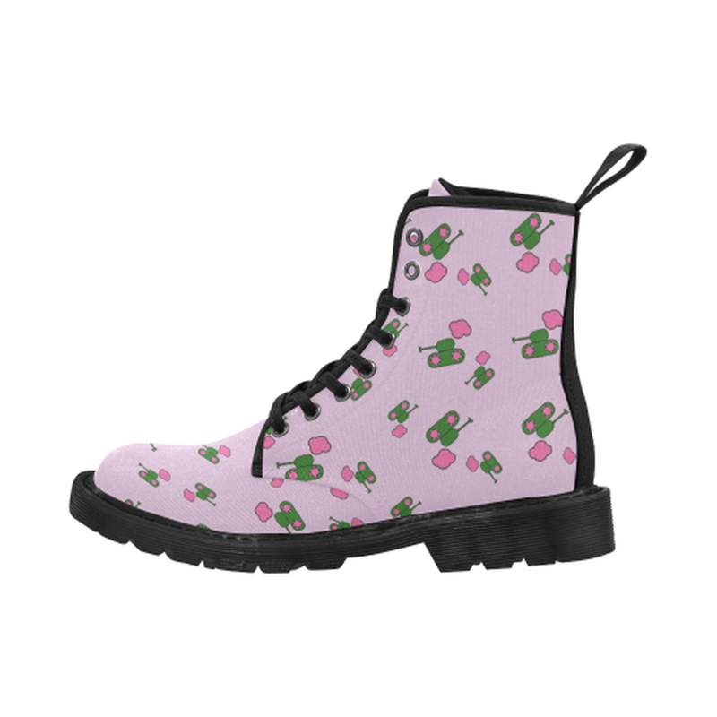 Tanks and Clouds Pink Boots for 60.00 at ARMY PINK