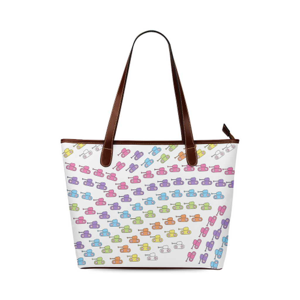 Bright rainbow tank Tote Bag for  at ARMY PINK