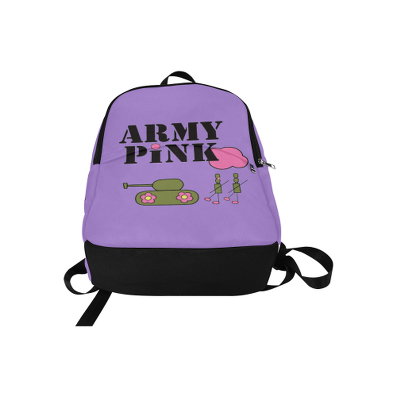Purple Logo Fabric Backpack for  at ARMY PINK