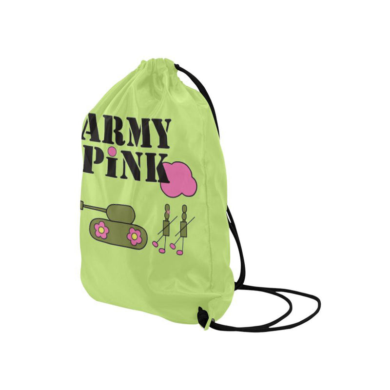 Green logo Drawstring Bag ${product-type) ${shop-name)