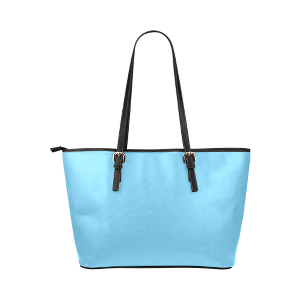 Blue love tank leather Tote Bag for  at ARMY PINK