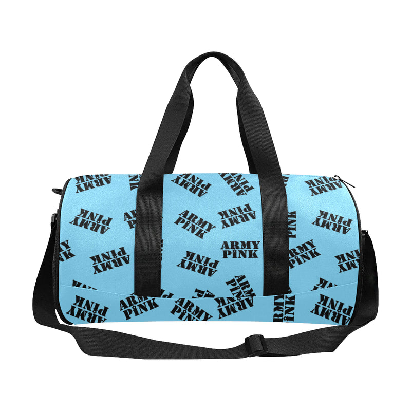 Blue Stamp Duffle Bag for  at ARMY PINK