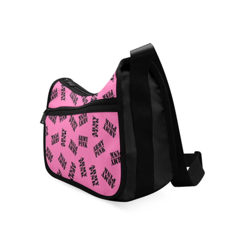 Pink black stamp Crossbody Bag for  at ARMY PINK