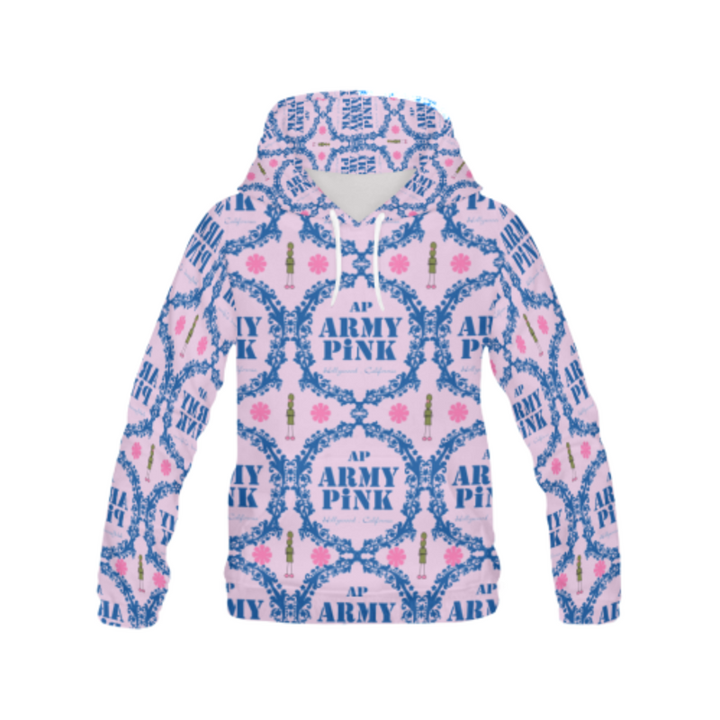 Wreath on pink All Over Print Hoodie for 40.00 at ARMY PINK