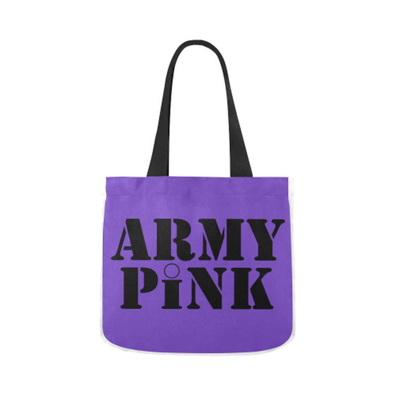 canvas tote name purple Canvas Tote Bag 02 Model 1603 (Two sides) for  at ARMY PINK