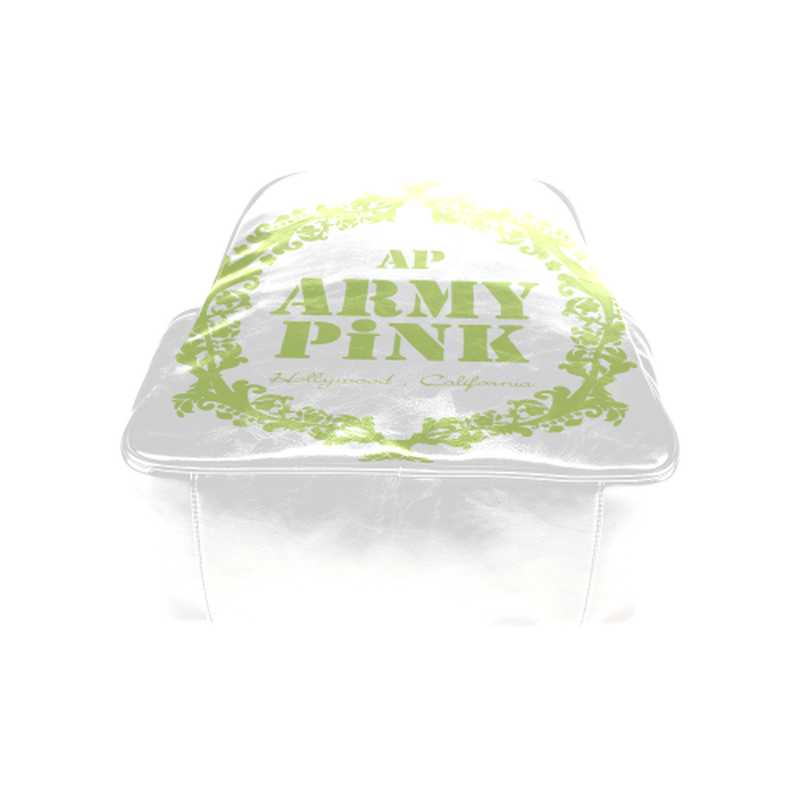 Green wreath on white Multi-Pockets Backpack (Model 1636) for  at ARMY PINK