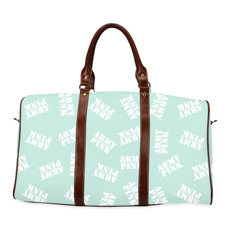 Large mint stamp Travel Bag for  at ARMY PINK