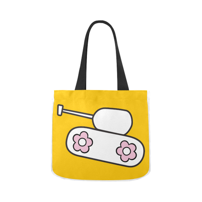 Yellow tank Canvas Tote Bag for  at ARMY PINK