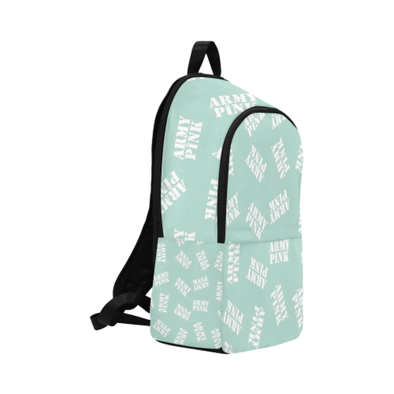 White stamps on mint Fabric Backpack for Adult (Model 1659) for  at ARMY PINK