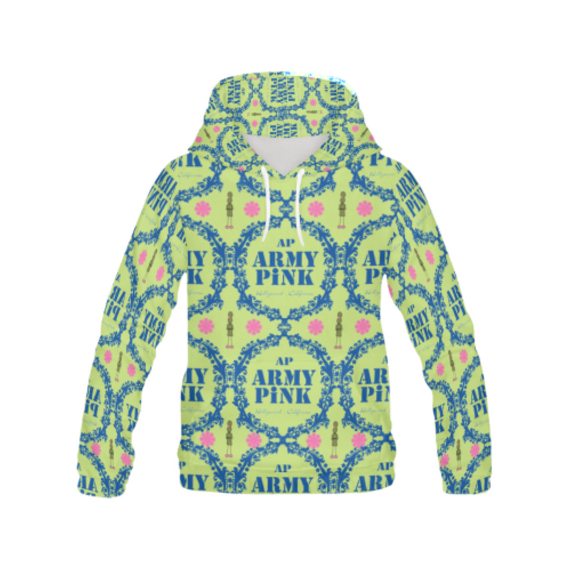 Wreath on green All Over Print Hoodie for 40.00 at ARMY PINK