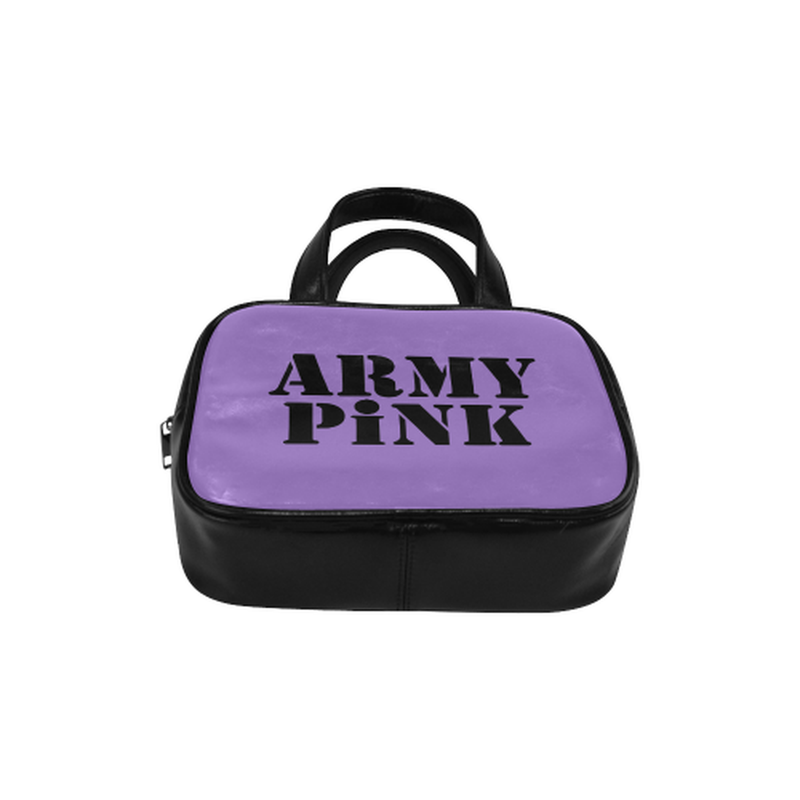 Army Pink on Purple Leather Top Handle Handbag for  at ARMY PINK
