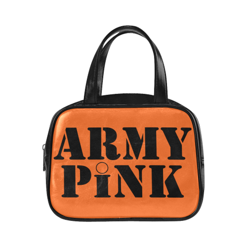 handbag name orange Leather Top Handle Handbag (Model 1662) for  at ARMY PINK