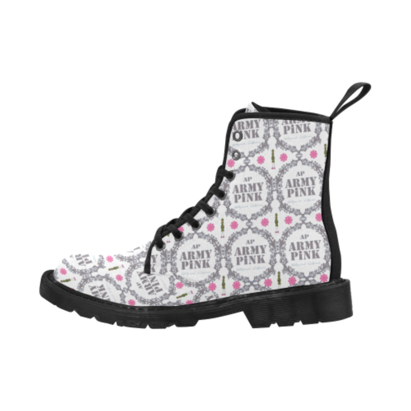 Gray wreath white Boots for 60.00 at ARMY PINK