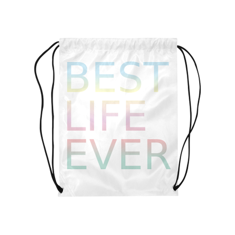 Pastel best life Drawstring Bag ${product-type) ${shop-name)