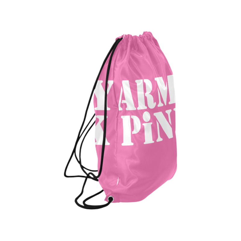 Army Pink in White on Pink Drawstring Bag for  at ARMY PINK