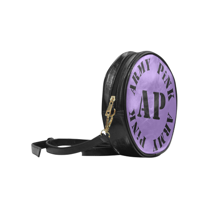 Round logo on purple Round Sling Bag (Model 1647) ${product-type) ${shop-name)