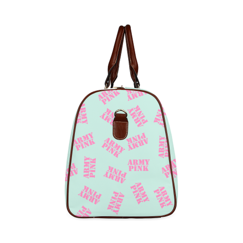 large travel pink stamp mint Waterproof Travel Bag/Large (Model 1639) for  at ARMY PINK