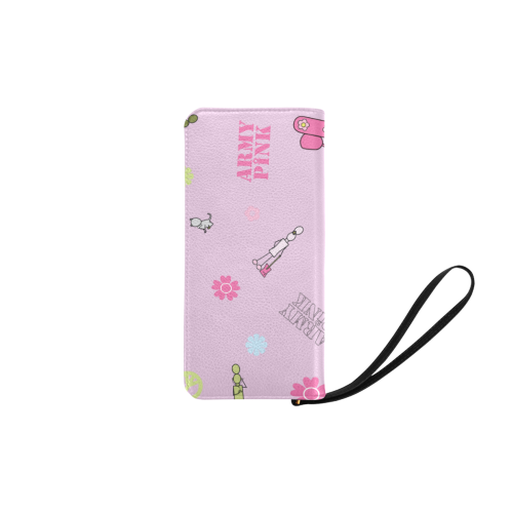 Logo print pink Clutch Purse ${product-type) ${shop-name)