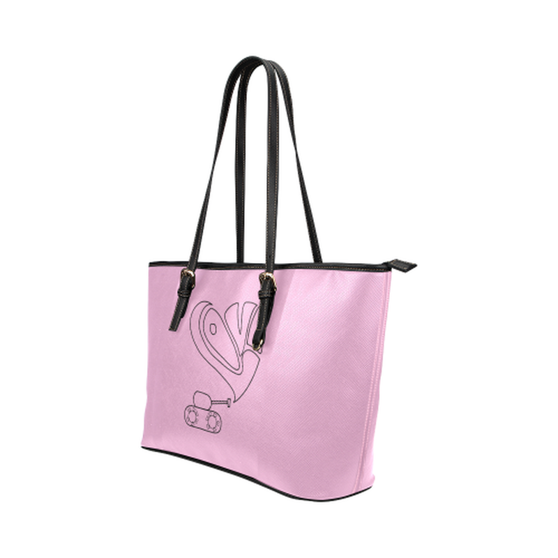 Pink love tank leather Tote Bag for  at ARMY PINK