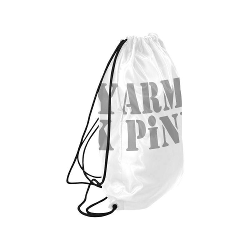 "Gray Army Pink on white Medium Drawstring Bag Model 1604 (Twin Sides) 13.8""(W) * 18.1""(H) ${product-type) ${shop-name)"