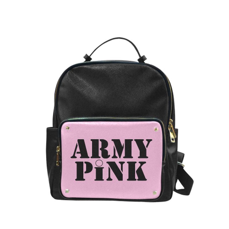 Pink Army Pink small Leather Backpack for  at ARMY PINK