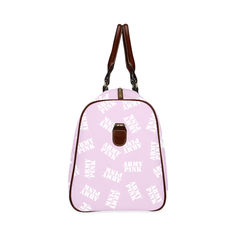 small travel white stamp violet Waterproof Travel Bag/Small (Model 1639) for  at ARMY PINK