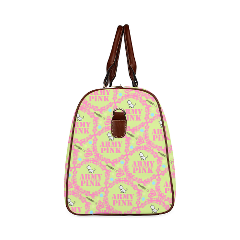 small travel wreath aop on green Waterproof Travel Bag/Small (Model 1639) for  at ARMY PINK
