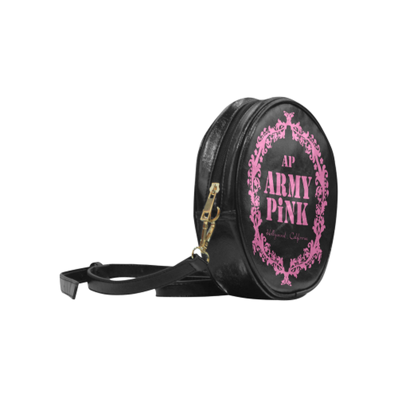 sling pink wreath Round Sling Bag (Model 1647) for  at ARMY PINK