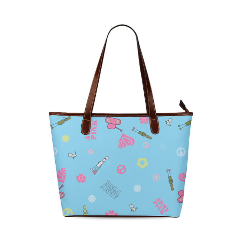 Blue logo Tote Bag ${product-type) ${shop-name)