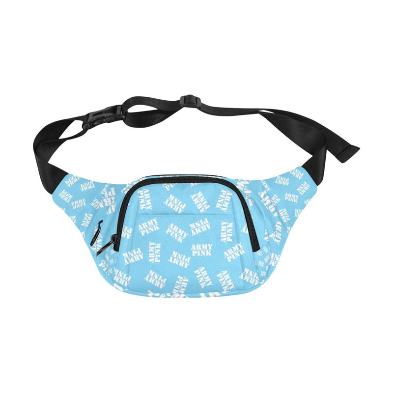 Army Pink Stamp Blue Fanny Pack for  at ARMY PINK