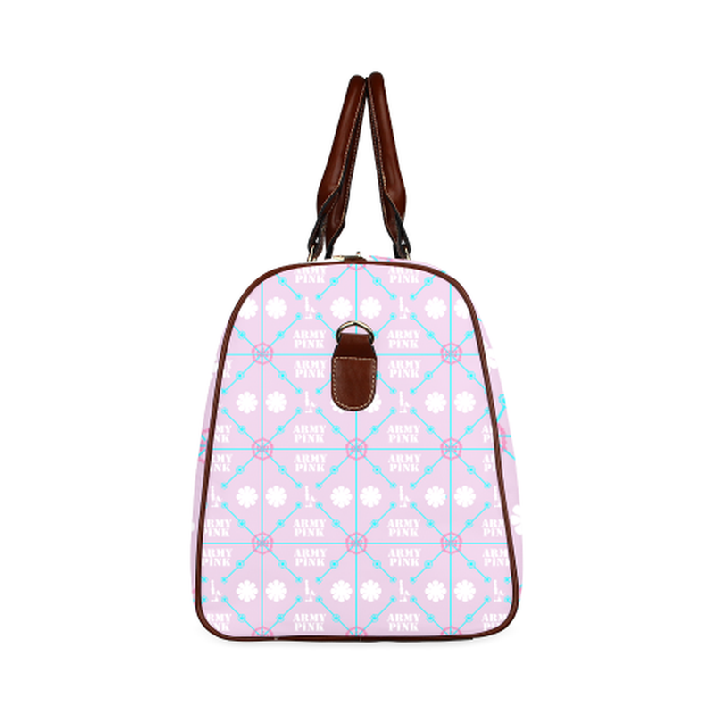 small travel diamond marchers on violet Waterproof Travel Bag/Small (Model 1639) for  at ARMY PINK