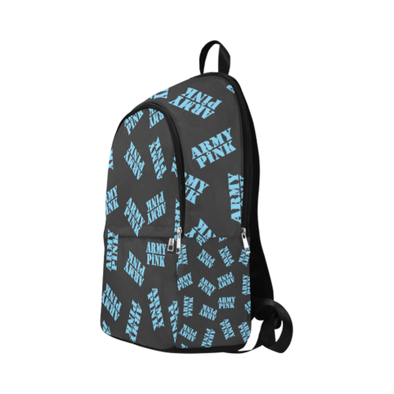 Blue stamps on black Fabric Backpack for Adult (Model 1659) for  at ARMY PINK